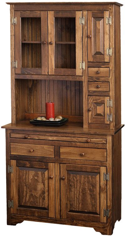 This Affordable Vintage Inspired Amish Pine Hoosier Hutch Is Available  Stain, Painted Or With A Two Tone Finish. Microwave Cabinet ...
