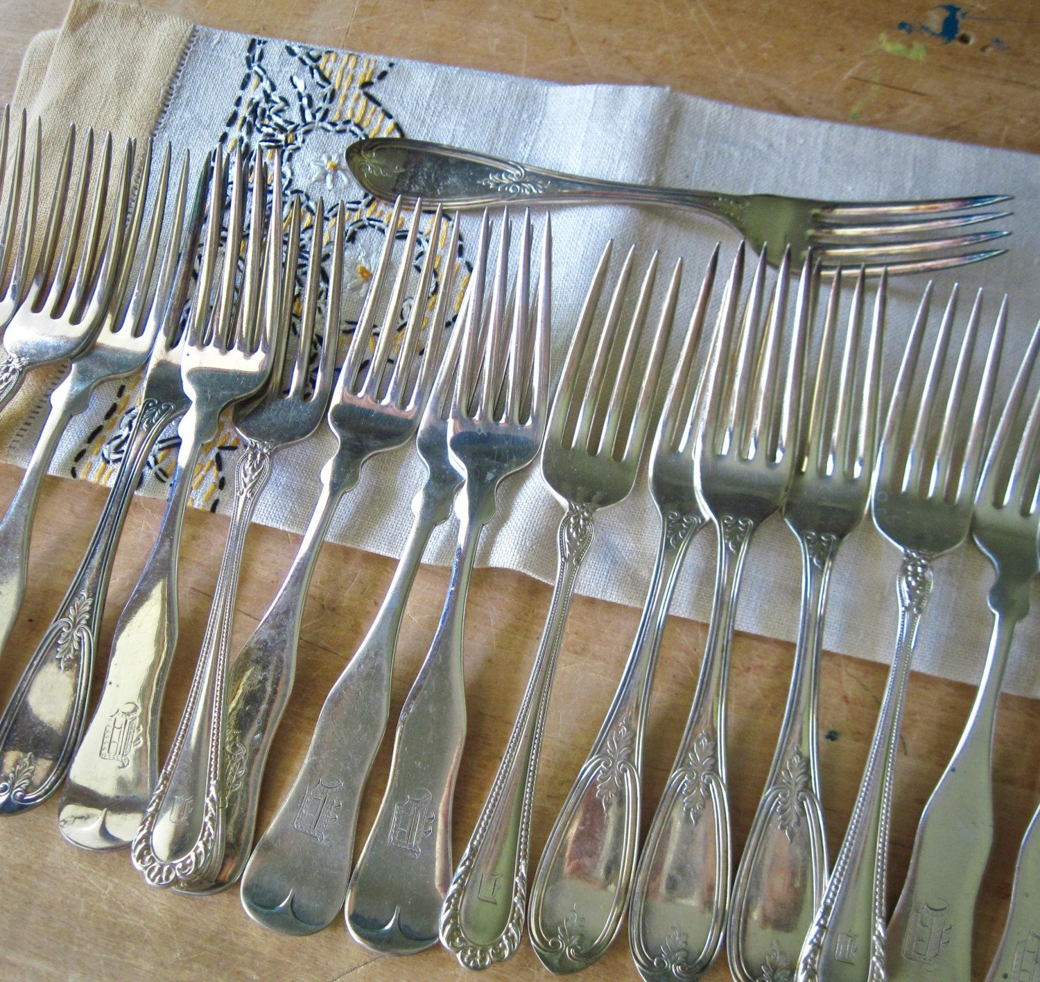 Rustic Silverware Mismatched Silverware Flatware Silver Plate Forks