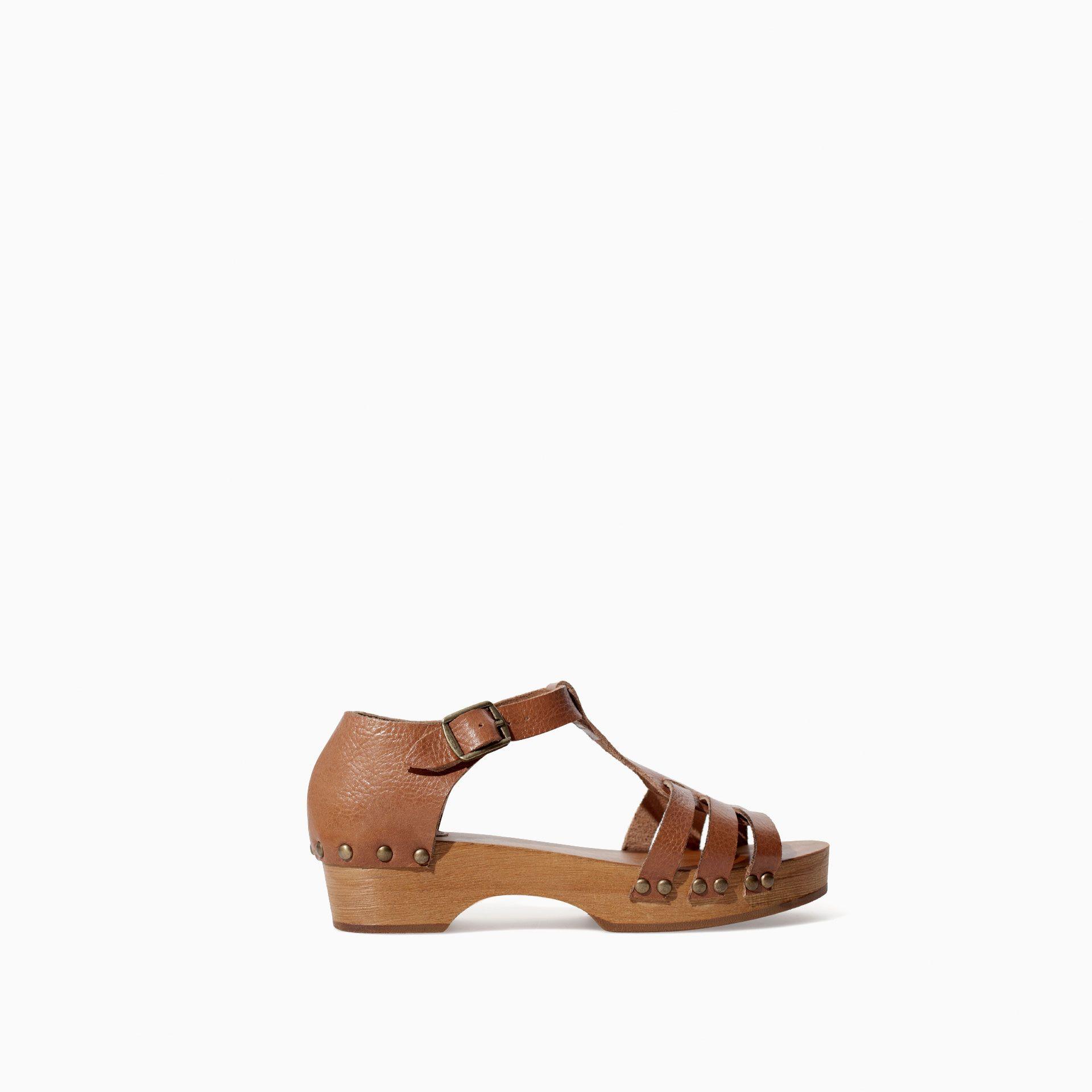 5850286f ZUECO MADERA PIEL - Zapatos - Niña (3 - 14 años) - NIÑOS | ZARA España
