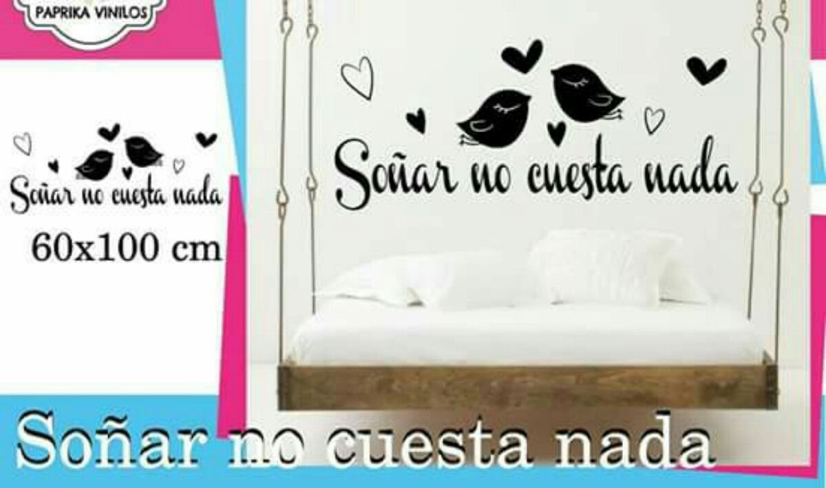 Vinilos Habitacin Matrimonial Amor Love Frase