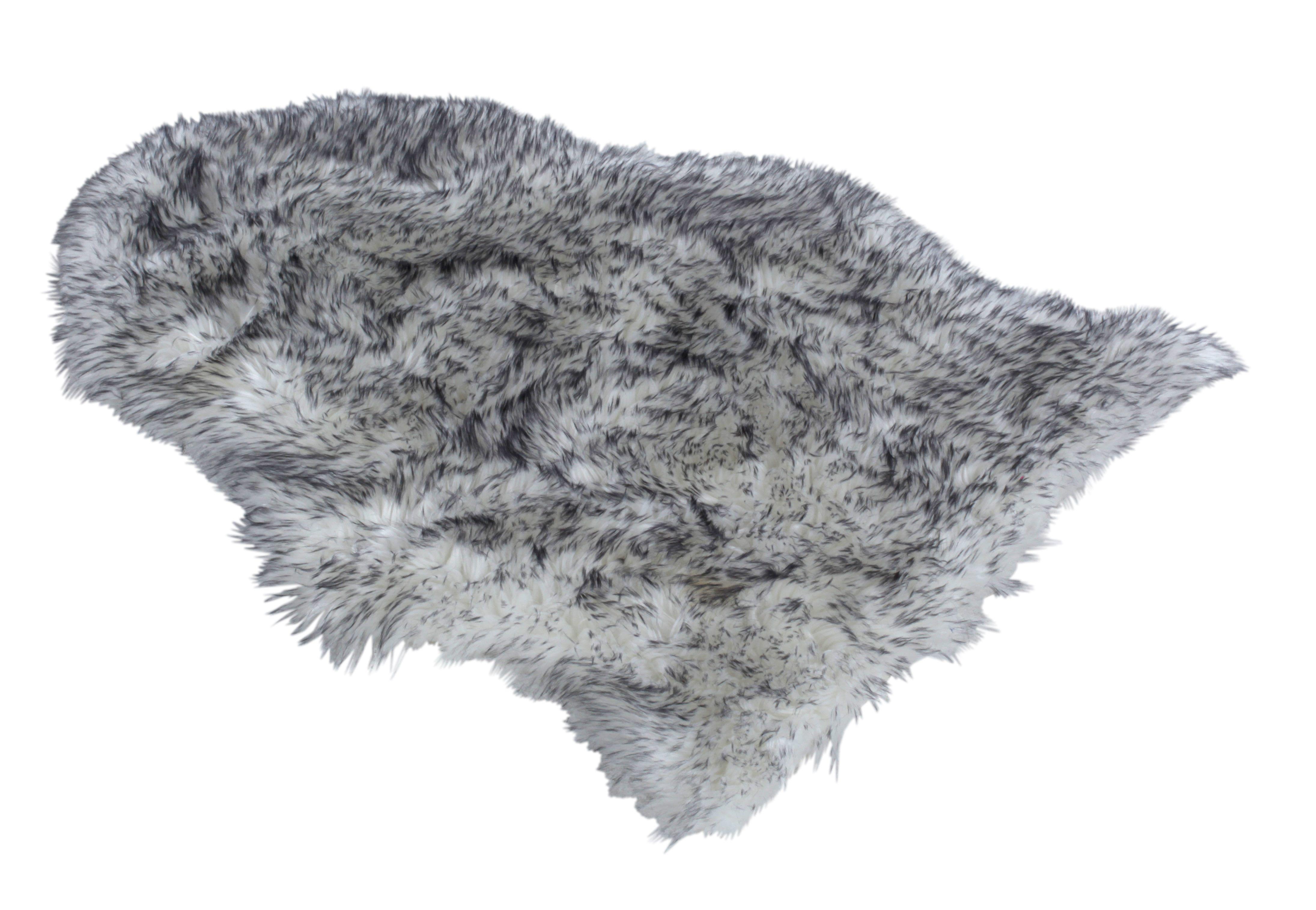 Tapis 65x90 cm SLED Imitation fourrure gris
