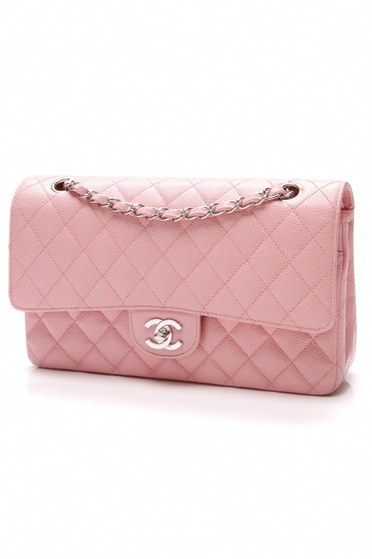 a7245c9c018e Chanel Pink Classic Double Flap Bag  chaneldoubleflap  Chanelhandbags