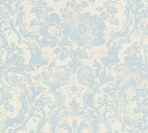 Tapete Barock Blume Creme Blau Livingwalls 32831 2 Tapeten Ornament Tapete Mustertapete