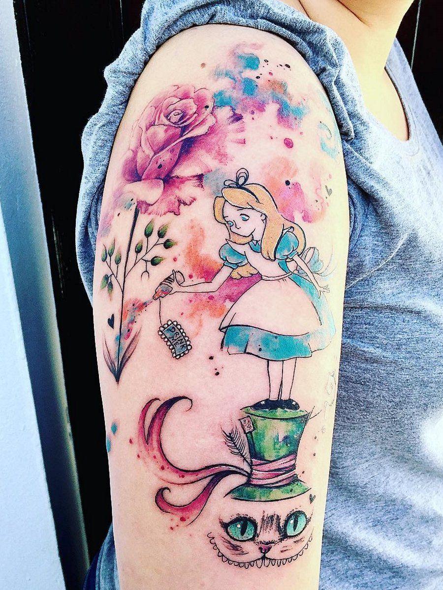 Ramon On Wonderland Tattoo Disney Tattoos Alice And Wonderland