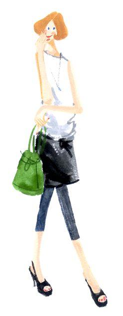 ファッション・イラスト : しばたあゆみ 日々のコトコト