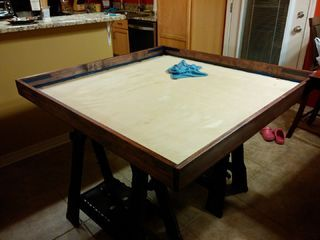 IMPORTANT NOTES: I am giving these instructions as an amateur who simply wanted a game table a did enough research to pull it off. These instructions are for...