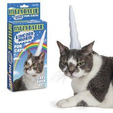 Inflatable Unicorn Horn For Cats: Item number: 3324420717 Currency: GBP Price: GBP6.95