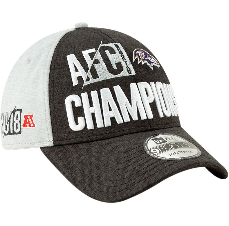 big sale 88ab3 e5774 New Era Men s Baltimore AFC North Division Champions 9Forty Adjustable Hat