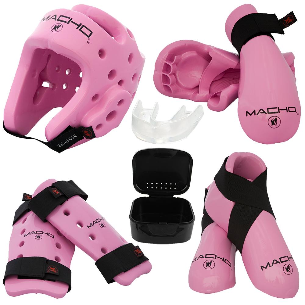 Dyna Sparring Gear Set Pink Sparring gear, Combat sport