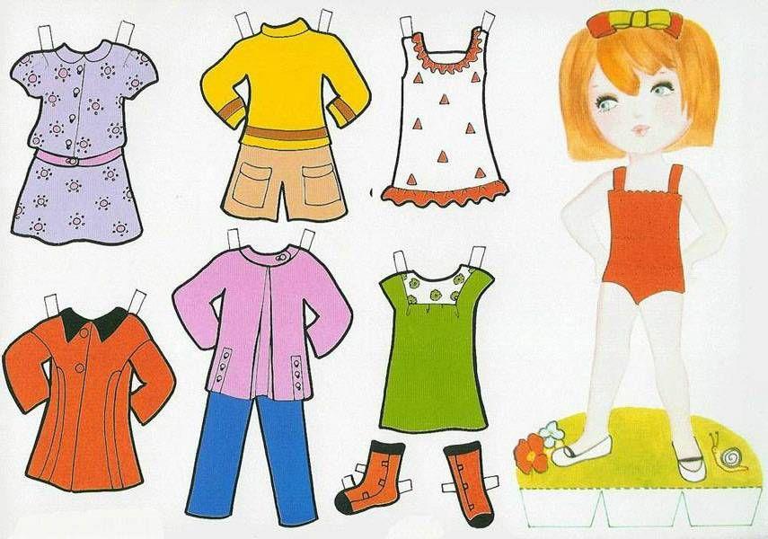 Recortables Muñecas Para Vestir Lupe 1 Vestidos De