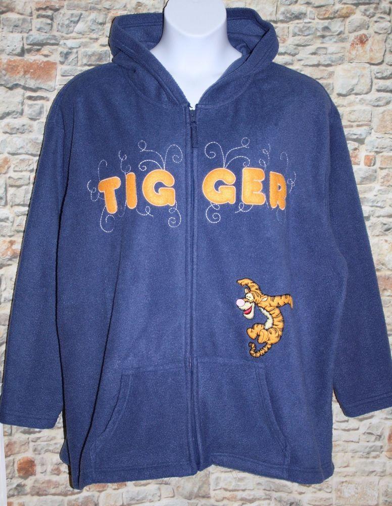 a2c86447 Disney Women's 4XL 26W TIGGER Blue Fleece Embroidered Hoodie Zip Up Pocket  Jacket #Disney #FleeceJacket #Casual