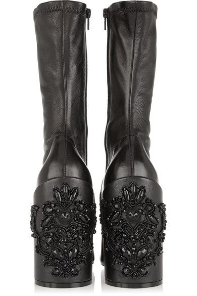 Givenchy Crystal embellished leather boots | Boots