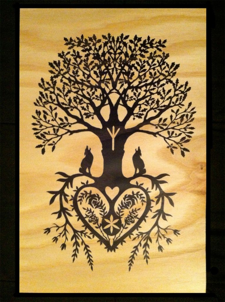 German Paper Cutting Patterns | Tree of Life Fine Art Wood Print ...