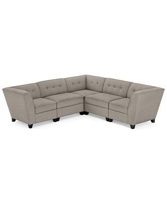 Sensational Harper Fabric 5 Piece Modular Sectional Sofa Overall 103 Gmtry Best Dining Table And Chair Ideas Images Gmtryco