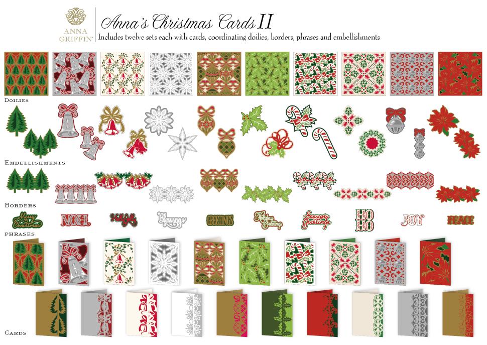 Anna Griffin Christmas Cards.Anna Griffin Christmas Cards 2 Cricut Cartridge Images 4 16