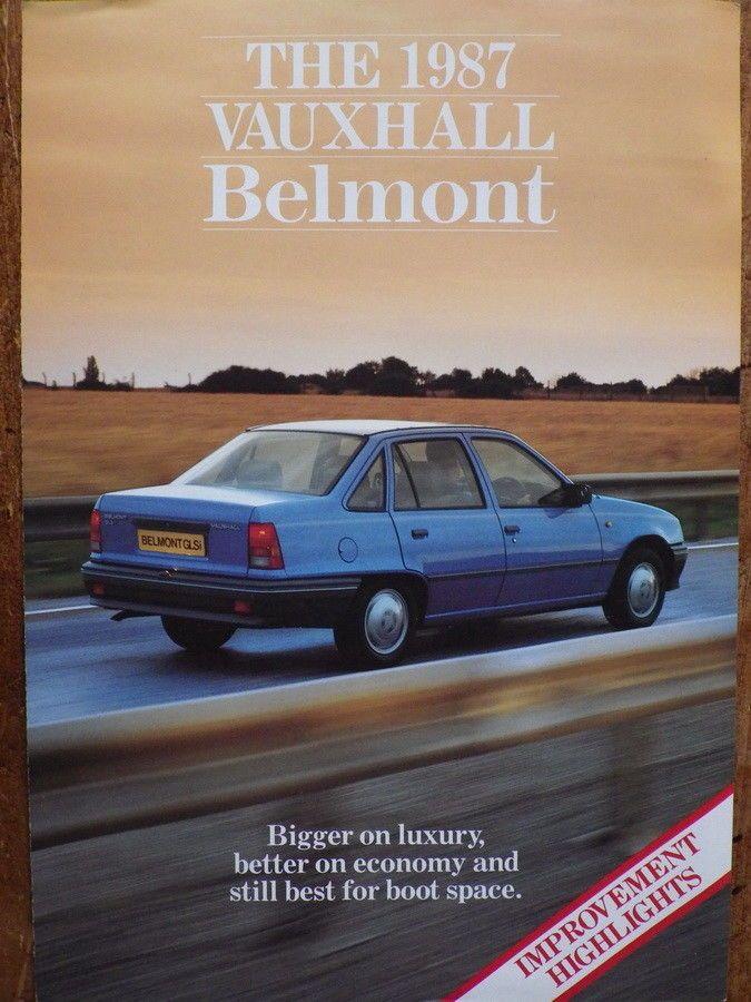 VAUXHALL BELMONT Original 1987 CAR BROCHURE Old Car Brochures