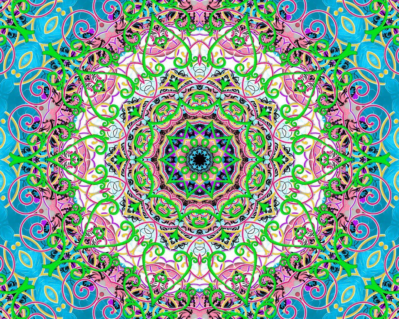 Color art mandala wonders - Neon Bliss