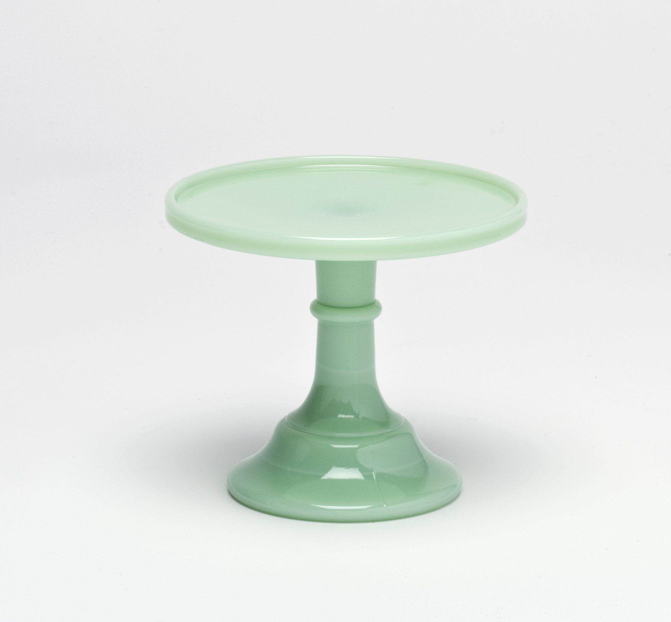 Jadeite 6 glass cake stand by mosser glass glass cake