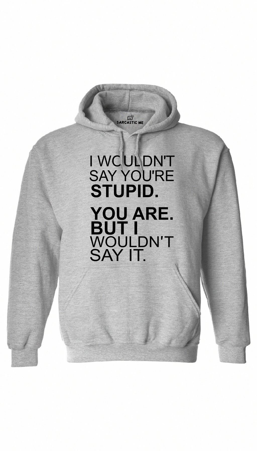 Buy Cool Shirts I/'m With Stupid Hoodie White Print