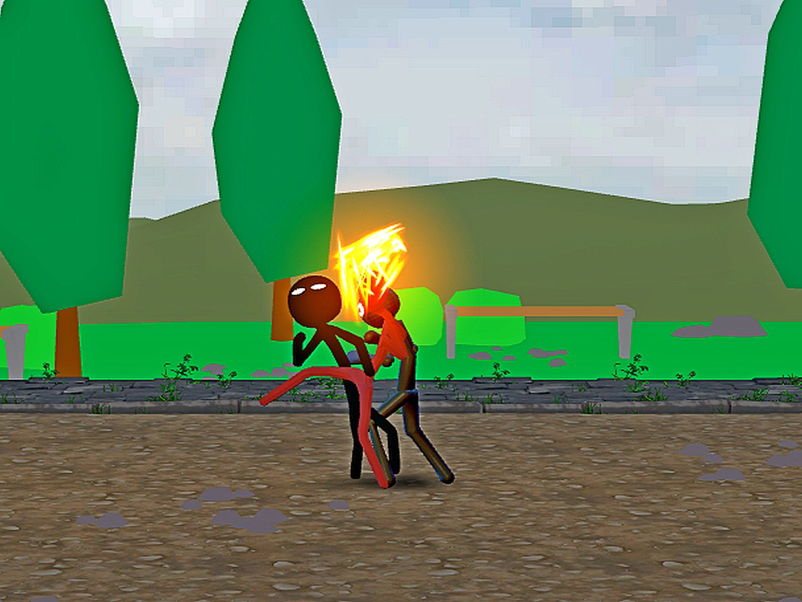 Stickman Ultimate Street Fighter 3D Game in 2020 Street