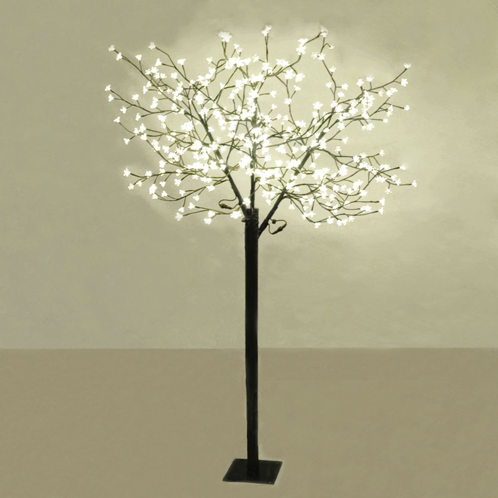 18m outdoor led cherry blossom tree 384 warm white led for Tree floor lamp uk