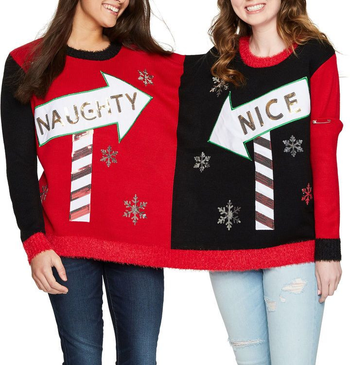 IT S OUR TIME Two Person Ugly Christmas Sweater-Juniors | Christmas ...