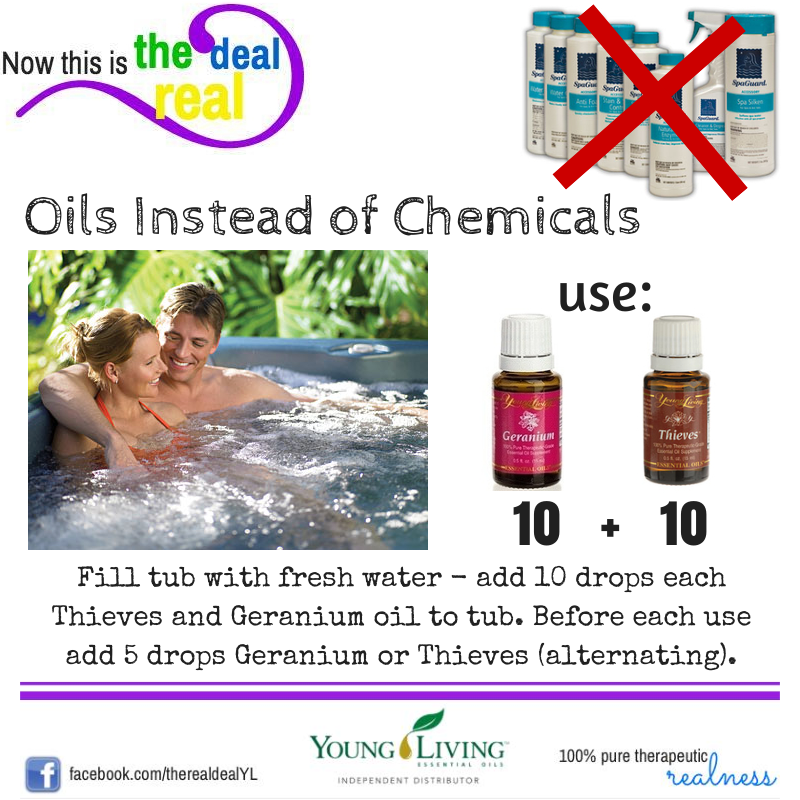 Deb Chausky Chemical Free Hot Tub Essential Oils Cleaning Young Living Oils