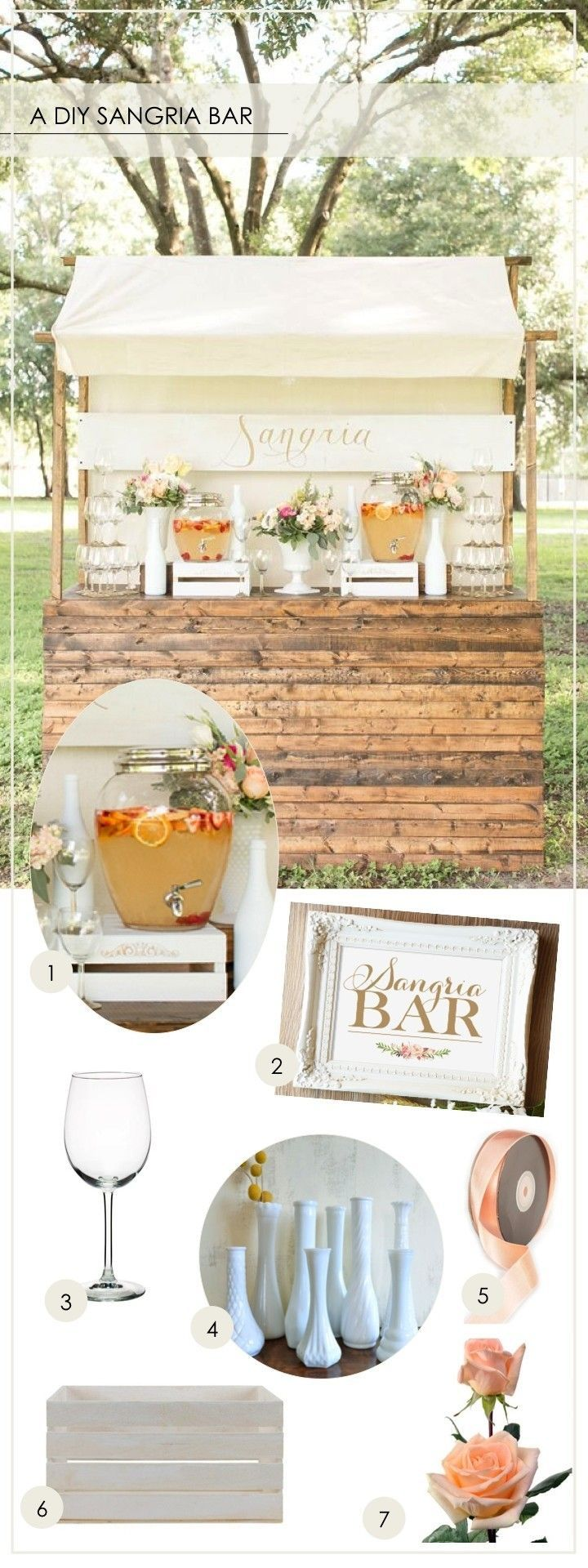 A diy sangria bar do it yourself today pinterest sangria bar a diy sangria bar solutioingenieria Image collections