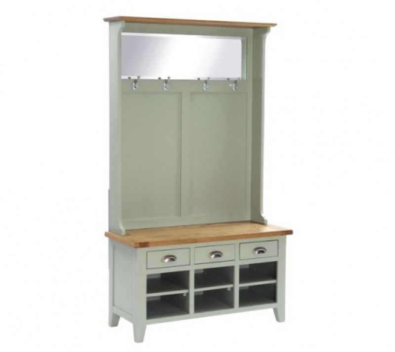 Vancouver Pee Expressions Hall Tidy With Bench Shoe Storage Coat Rack And Mirror