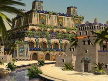 Los Jardines Colgantes de Babilonia  Edificados entre el 605 a.C. y el 562 a.C. en la cuidad de Babilonia (actualmente Irak), Dichos jardines, eran edificaciones grandiosas y bellas, construidas a un lado del palacio del rey, y junto al río, para que así los viajeros pudieran contemplar su grandeza, ya que estaba prohibido a las personas del pueblo entrar a los jardines