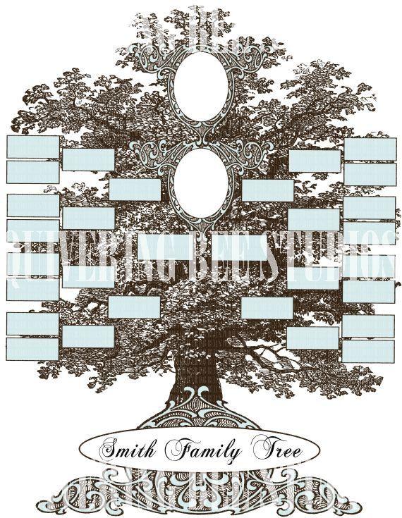 Family Tree Template Digital Download scrapbooking wedding journal ...