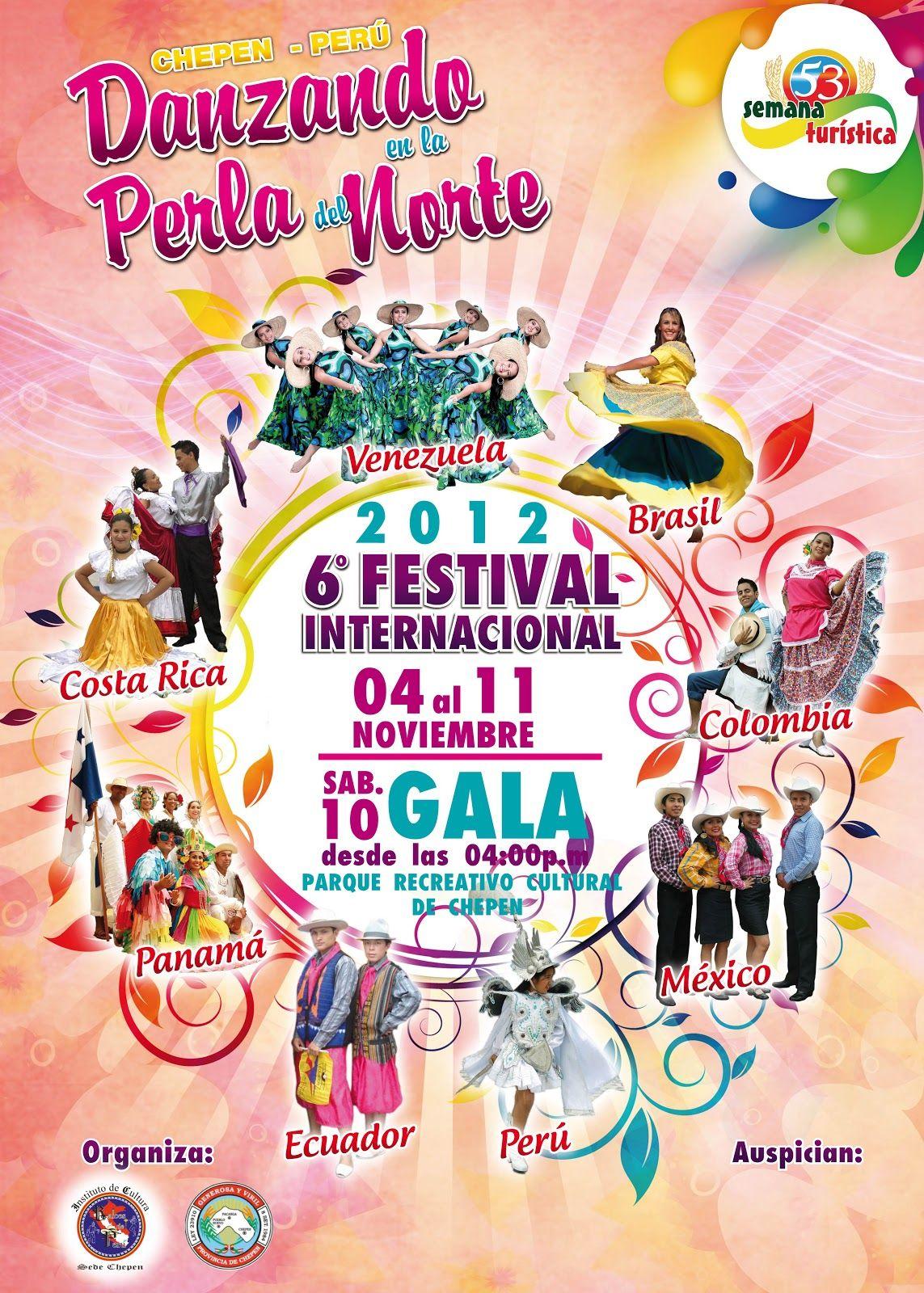 """Chepén Actualidad: VI FESTIVAL INTERNACIONAL DE DANZAS FOLCLORICAS """"DANZANDO EN LA PERLA DEL NORTE"""" (CHEPEN - PERÚ)"""