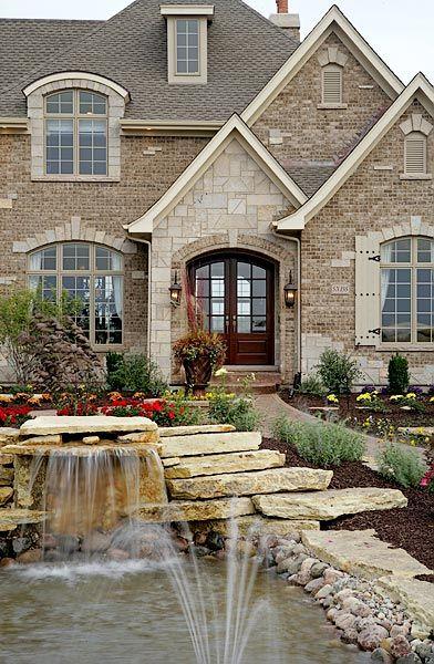 Custom Exterior Tile : Silvestri custom homes versailles model home fall