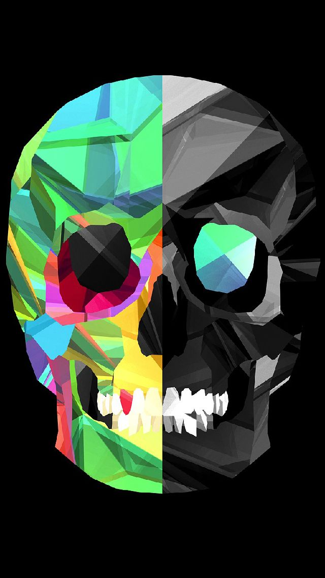Polygon Skull IPhone 5s Wallpaper