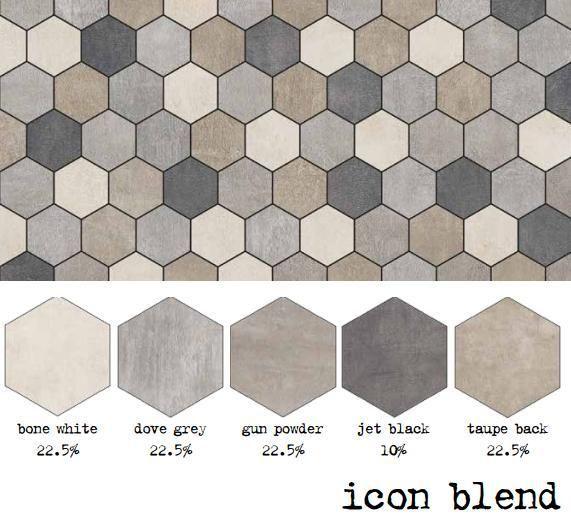 Icon 8 75x8 75 Hexagon Blend Pattern Unicomstarker Ceramic Floor Tiles 3d Wall Panels Flooring