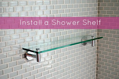 Quick Tip How To Install A Shower Shelf Over Glass Or Ceramic