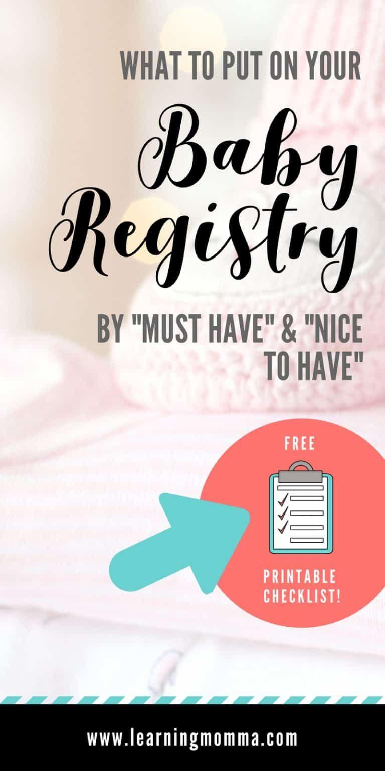 Minimalist Baby Registry Checklist – Baby Registry Must Haves & More