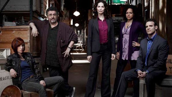 "Monday, April 14 at 9pm: Warehouse 13 (Fifth and final season premiere) Syfy says ""Later!"" to one of its beloved original series as Pete, Claudia, Art, and Myka convene for six series-ending episodes of artifact-hunting before the warehouse closes for good."