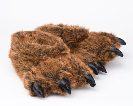 5b07902fe04 Grizzly Bear Paw Slippers - Fun (and even a little ridiculous) grizzly bear  slippers for the bear in your family! Sizes for the whole family.
