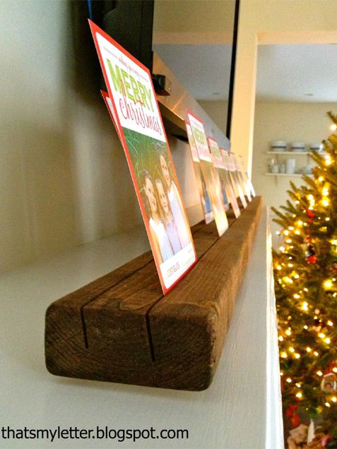 In a Handmade Display Board http://www.ivillage.com/creative-ways-display-holiday-cards/7-a-551520