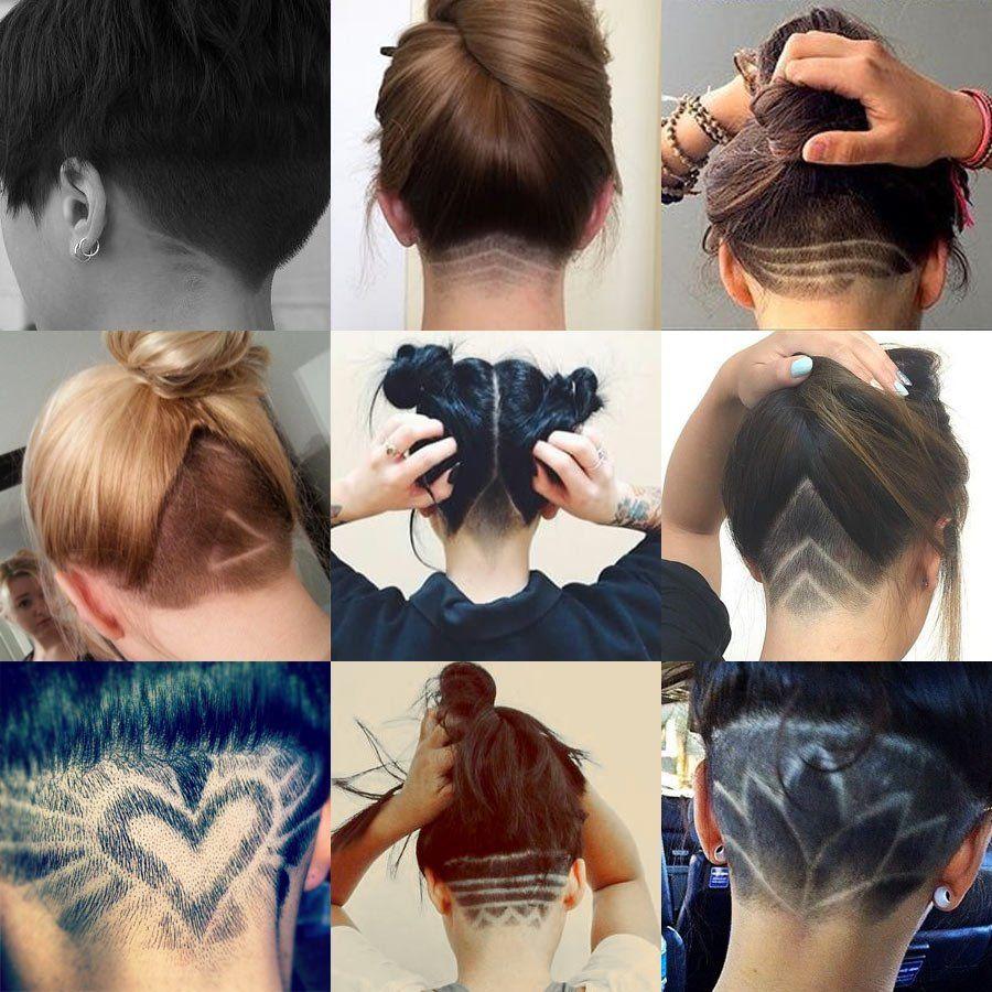 Nape Undercut Designs for Women  Undercut long hair, Undercut