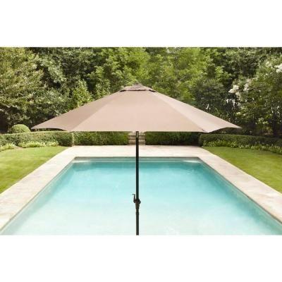 Brown Jordan Greystone Form 9 Ft Patio Umbrella In Sparrow Stock Dyt005 U The Home Depot Patio Patio Umbrella Brown Jordan Patio Furniture