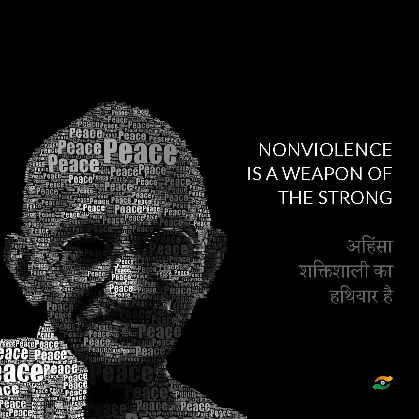 Mahatma Gandhi Quotes In Hindi Nonviolence Is A Weapon