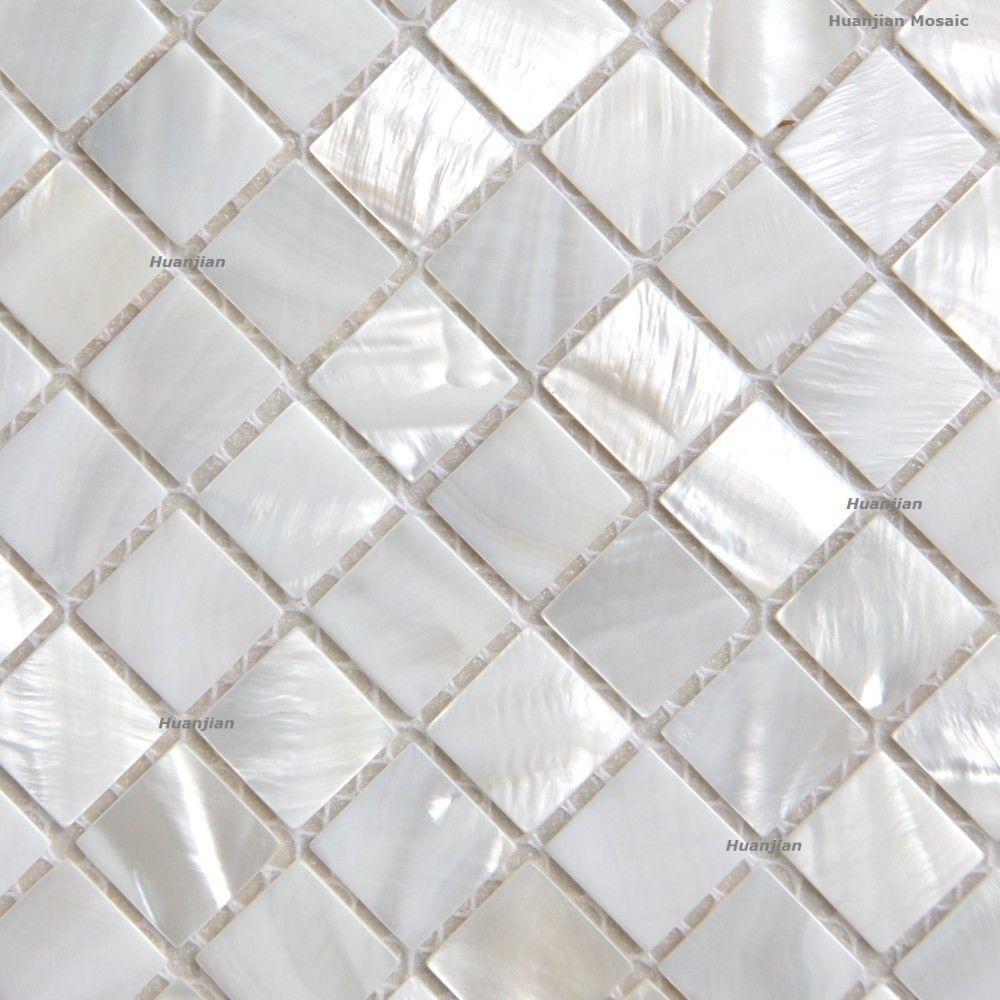 Betere Shinning! Zilver wit mozaïek parelmoer tegels keuken backsplash OQ-03