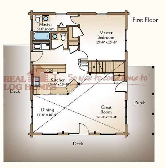 Loft Apartments Augusta Ga: Real Log Homes Floor Plan