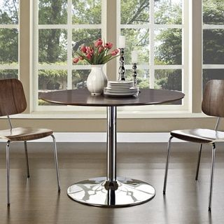 The Rostrum Walnut Finish Dining Table - 14228523 - Overstock - Great Deals on Modway Dining Tables - Mobile