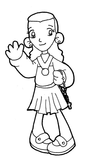 Blessed Laura Vicuna Catholic Coloring Page She Is A Chilean Saint From More Modern Times April 5 1891 January 22 Vicuna Dia De Todos Los Santos Colores