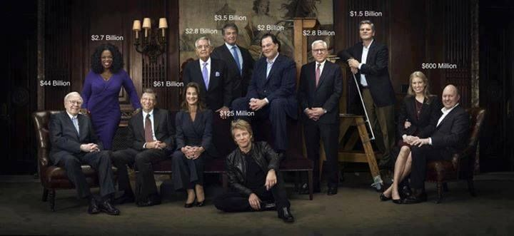 World's most wealthy and influential philanthropists all in one room!!