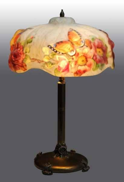 Puffy Pairpoint Lamp With Butterflies Dated 1907 Signed