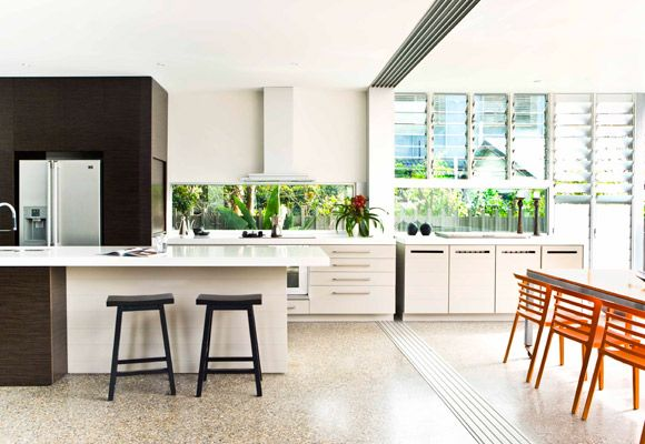 happy returns queensland gold coast family home a long clear glass splashback borrows a sl on outdoor kitchen queensland id=78813